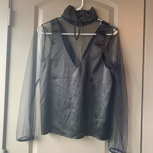 LF Tops - LF Silk and Mesh Blouse